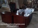 Meja kantor kayu jati mewah untuk meja kerja direktur