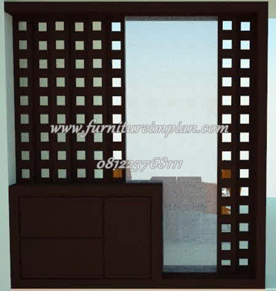 partisi block teak minimalis simple
