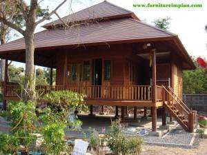 Rumah Panggung Kayu Minimalis terbaru 2018