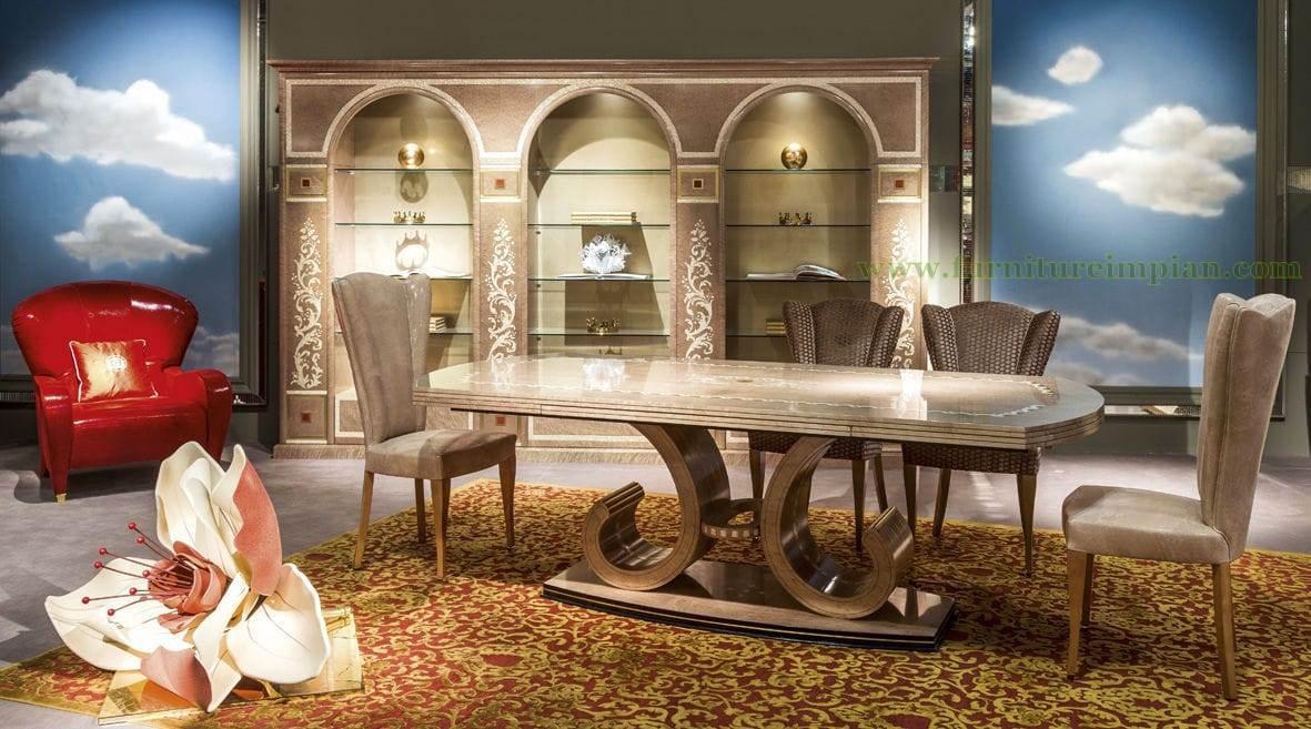 Kursi Meja Makan Elegan Mewah Model Mesir