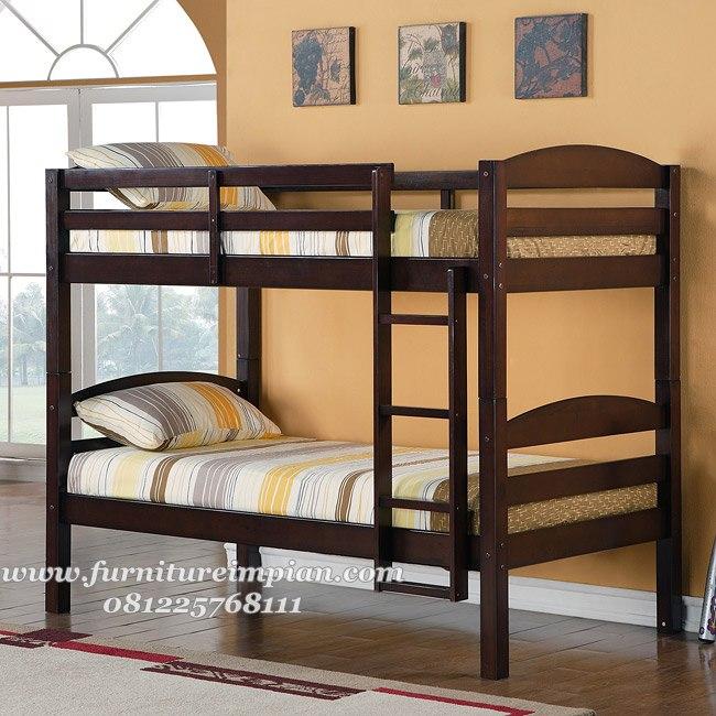 jual tempat tidur tingkat kayu jati