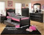 Set tempat tidur anak laci sorong