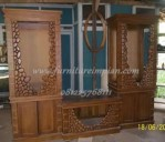 bufet tv motif batu kayu jati