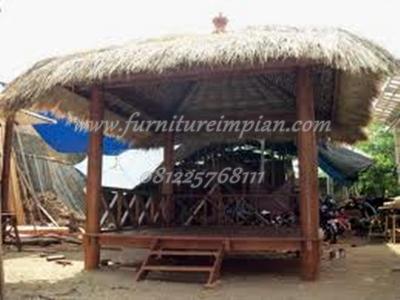 gazebo 4 x 4 kayu kelapa model minimalis jepara