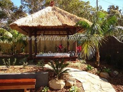 gazebo minimalis kayu kelapa ukuran 3 x 3