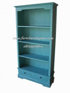 lemari buku minimalis terbaru 2 laci new blue 2 drawer bookcase