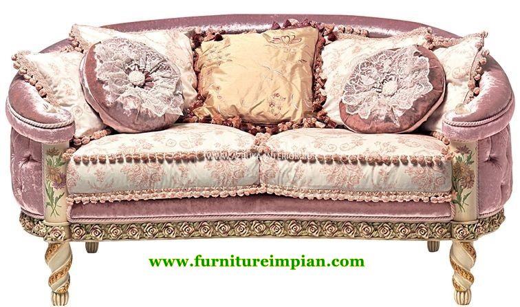 Kursi Sofa Pelaminan Lavender