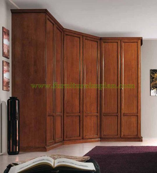 Lemari Pakaian Lengkung 6 Pintu