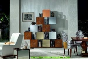 Rak Buku Model Domino