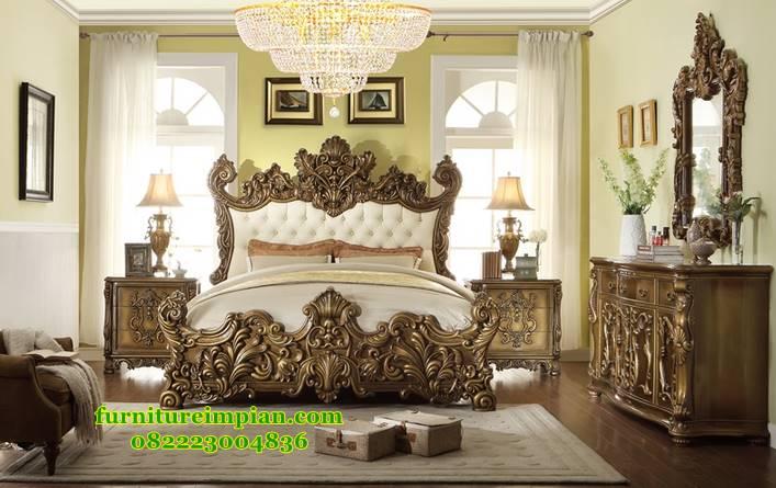 Set kamar tidur mewah ukir kayu jati jepara