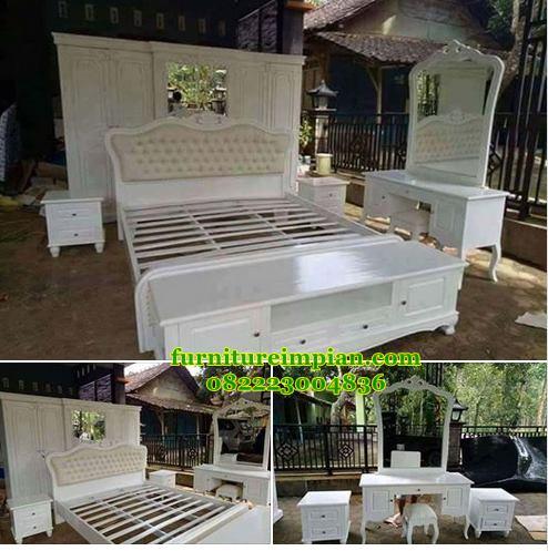 kamar set tidur klasik mewah duco putih