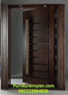 Pintu kamar minimalis jati jepara