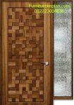 Pintu kamar model motif bambu anyam