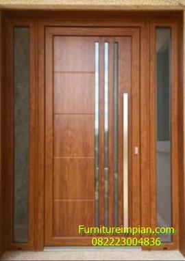 Pintu utama jati minimalis impian