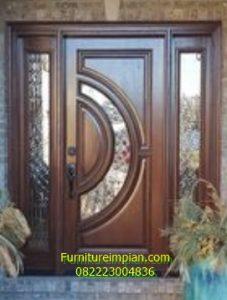 Pintu utama jati minimalis mebel jepara