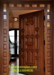 Pintu utama model clasik jati
