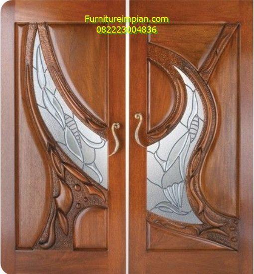 Pintu kamar sejajar ukir jati